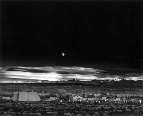 Moonrise on San Hernandez, Ansel Adams, 1941