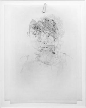 VERA PORTATADINO, Fade, 2011, matita su strati di carta e graffetta, dimensioni variabili