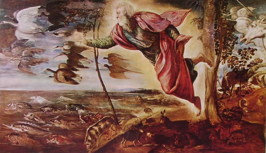Tintoretto: La creazione degli animali dans immagini sacre Tintoretto-la-creazione-degli-animali