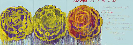 CY TWOMBLY The Rose (III), 2008