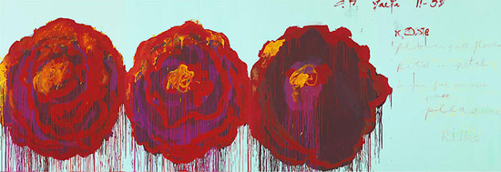 CY TWOMBLY, The Rose (IV), 2008