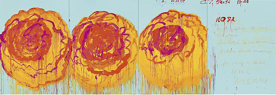CY TWOMBLY The Rose (I), 2008