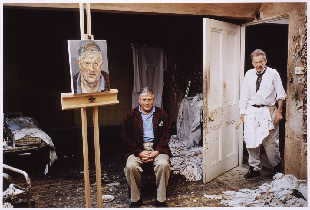 David Hockney in Freud's studio, David Dawson  © David Dawson