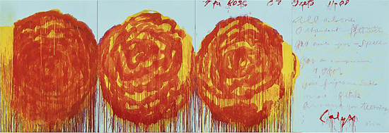 CY TWOMBLY, The Rose (II), 2008