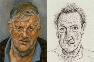 Hockney visto da Freud e Fred visto da Hockney