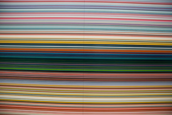 Gerhard Richter, Strip (CR 921-1), 2011, Digital print mounted between aluminium and perspex (Diasec) in two parts, 200x440cm.