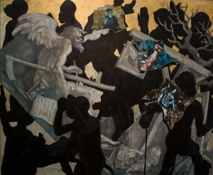 Jörg Immendorf, untitled, 2006, oil on canvas, 250x300cm.
