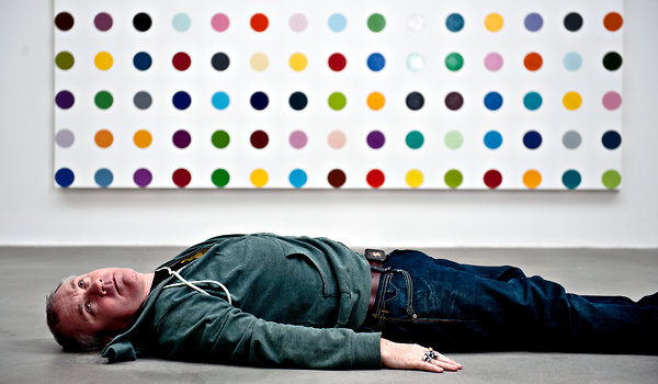 damien hirst, spot paintings, gagosian gallery
