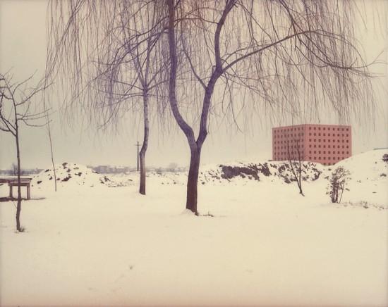 Modena, 1985 – serie Architetture di Aldo Rossi, project print, 5.5 x 7 cm © Eredi di Luigi Ghirri Courtesy Fondo di Luigi Ghirri