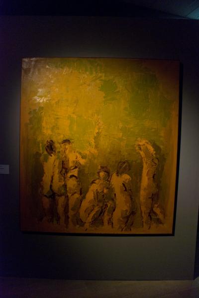 Ennio Morlotti, Studi per bagnanti, 1988, olio su tela, 190 x 170 cm.