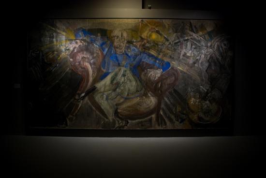 Villy Varlin, Apocalisse (Ritratto di Giovanni Testori), 1972, olio su tela 265x501 cm.