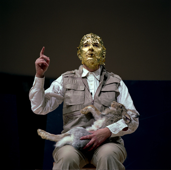 """How to Explain Pictures to a Dead Hare"" in ""Seven Easy Pieces"" (da Joseph Beuys), Guggenheim Museum New York, 2005"