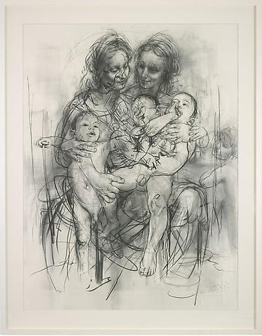 Jenny Saville, Reproduction drawing IV (after the Leonardo cartoon), 2010