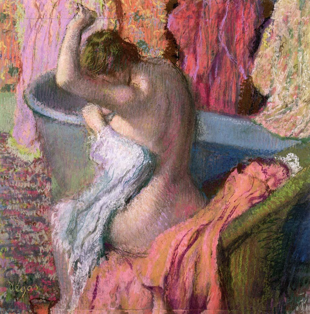 Edgar Degas, La Sortie du bain, c. 1895, Collezione privata