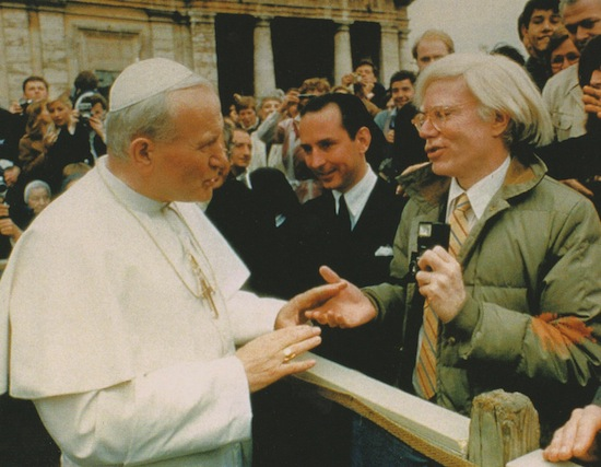 Andy Warhol e Giovanni Paolo II, Roma, aprile 1980.