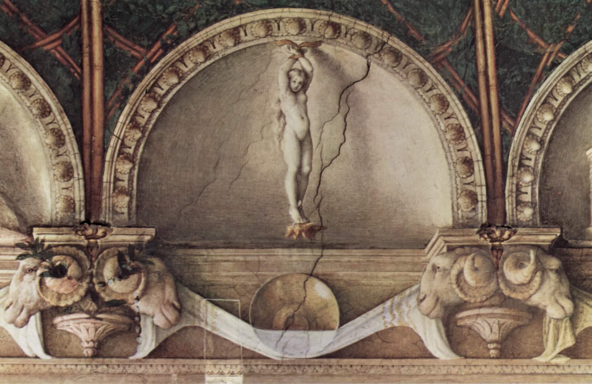 Correggio, Giunone Punita, Camera della Badessa in San Paolo, Parma